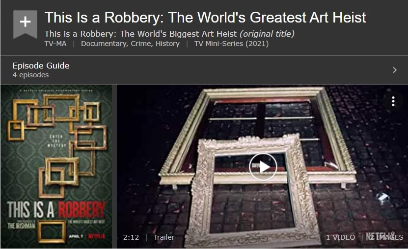 This Is a Robbery The World's Biggest Art Heist