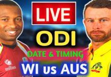WI vs AUS Live Score