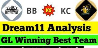 BB vs KC Live Score